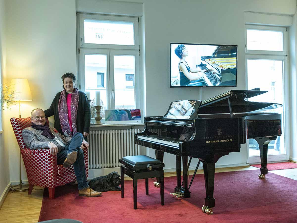 Im Klavierhaus Labianca in Offenburg